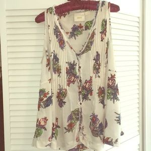 Anthropologie Maeve sleeveless button down, size L